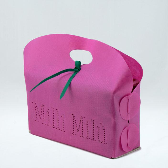 Borsa-TNT-shopping-bag-nonwoven-Italy-portascatole-scarpe-camice-pigiami-farfalle-brevetto-disign-sandalo-ciabatta