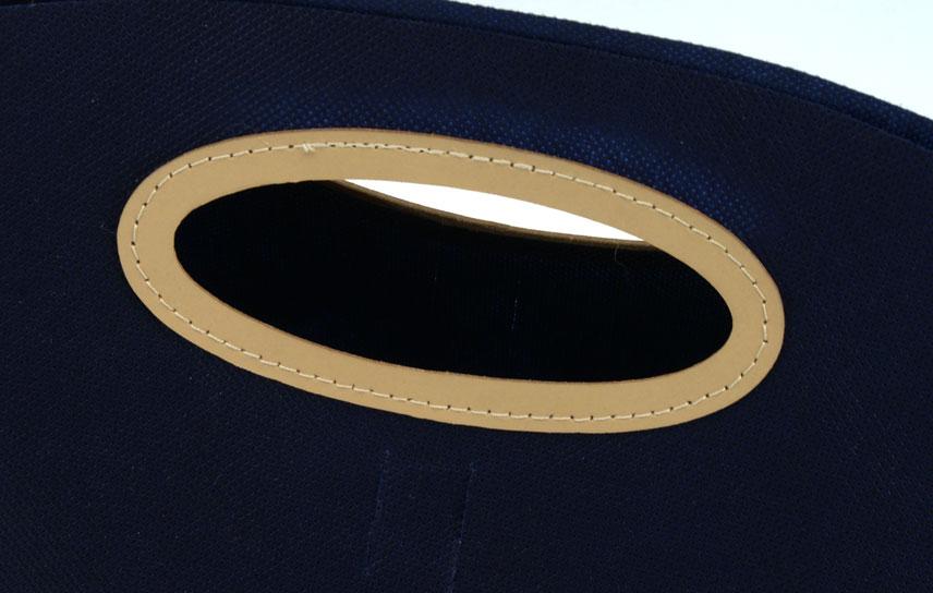 maniglia cuoio ovale
