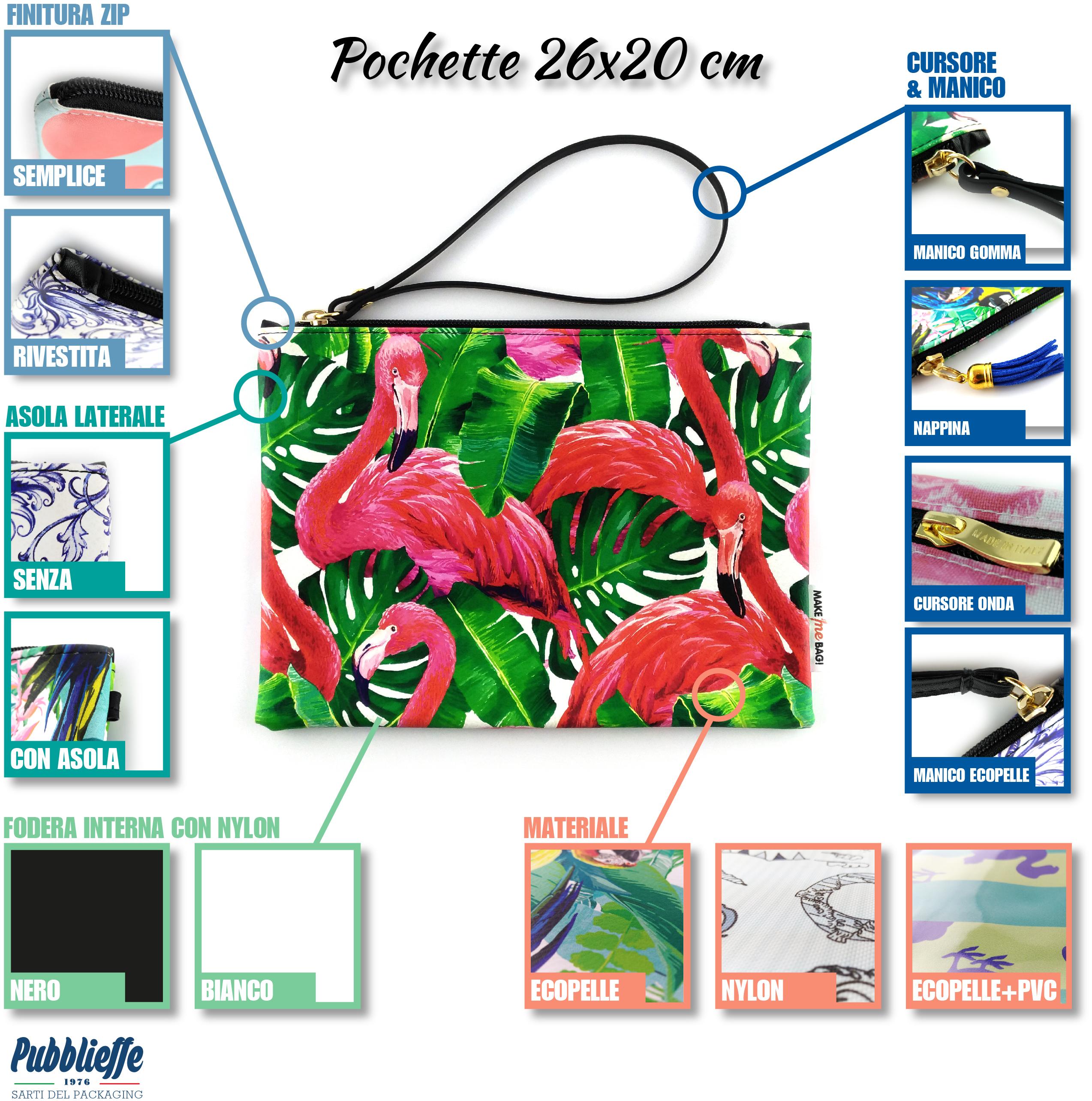 Pochette Ecopelle personalizzazioni