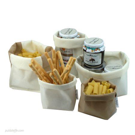 Sacchetto porta tutto in TNT, personalizzabile, per forni, alimenti e pasticcerie - Pubblieffe