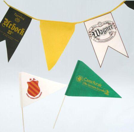 Bandierine e festoni in tnt promozionali per feste, gare ed eventi - Pubblieffe