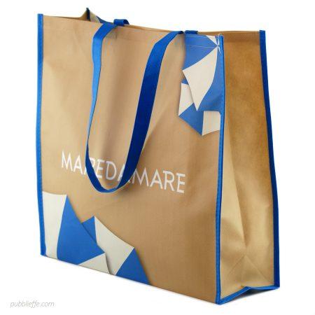 Shopper personalizzabile in TNT con manici per alimentari, abbigliamento e moda - Pubblieffe