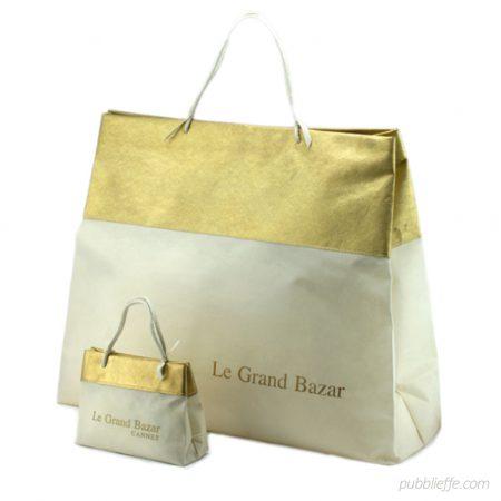 Shopper luxury personalizzabile in TNT o Ecopelle per abbigliamento e accessori moda - Pubblieffe